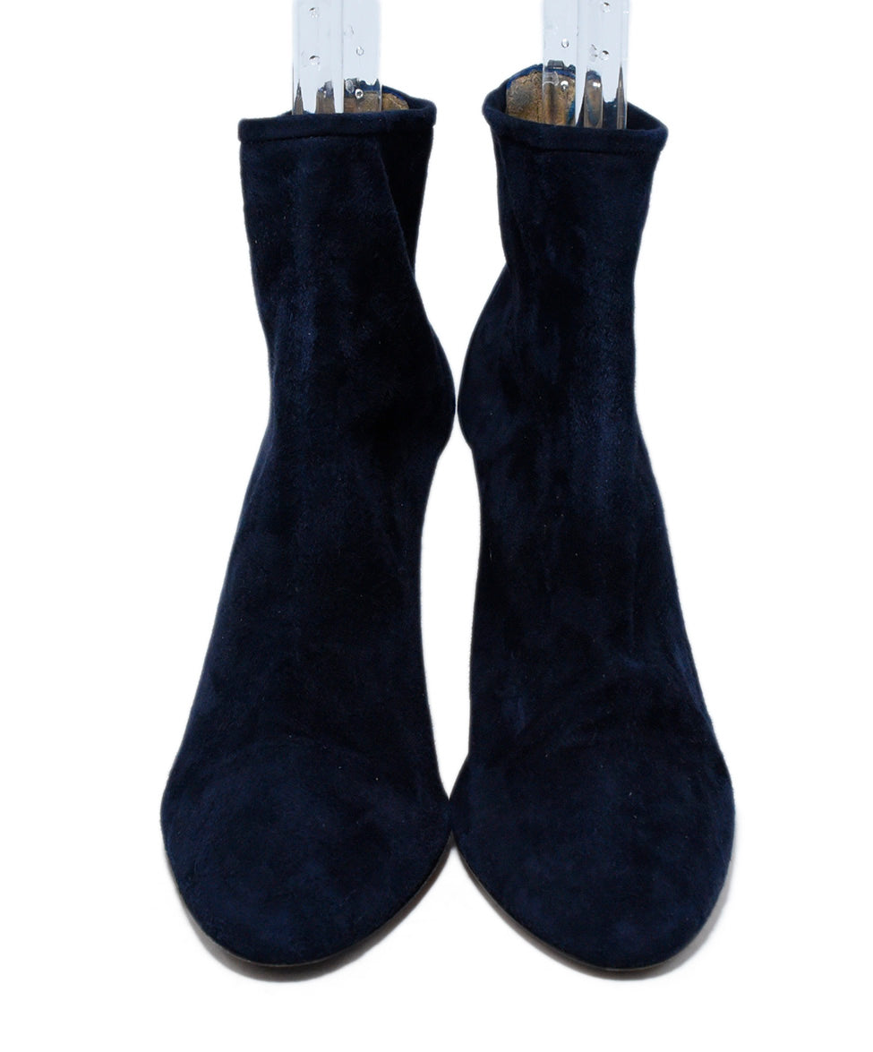 Aquazzura Blue Navy Suede Booties 4