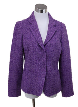 Armani Collezioni Purple Tweed Jacket 1