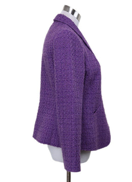 Armani Collezioni Purple Tweed Jacket 2