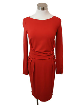 Armani Collezioni Red Viscose Polyamide Dress 1