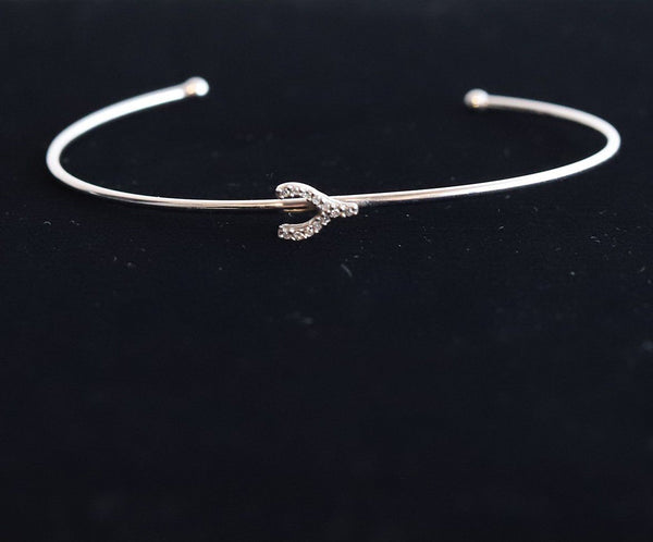 Artfully Designed Sterling Silver Diamond 0.04 ct Bracelet 2