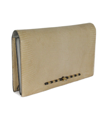 Asprey Tan Lizard Clutch 1