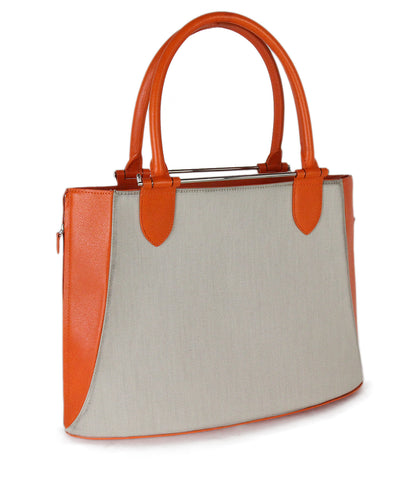 Asprey orange leather tote 1