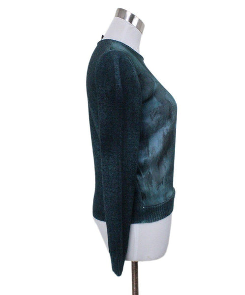 Size 4 Green Silk Cashmere Sweater