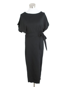 BA&SH Black Cotton Wrap Dress 1
