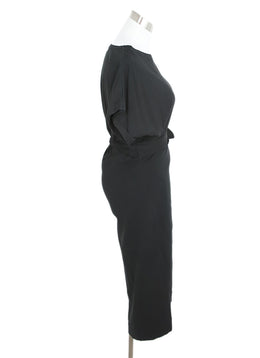 BA&SH Black Cotton Wrap Dress 2