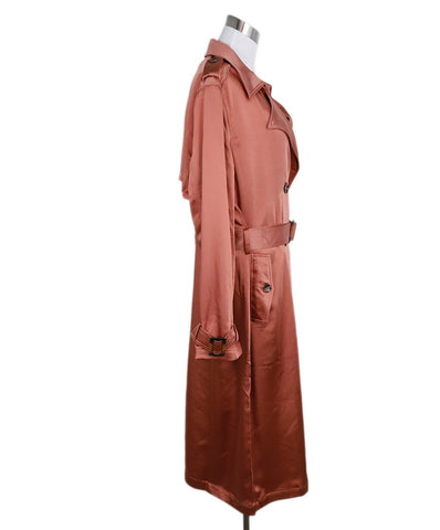 Badgley Mischka Orange Polyester Belted Trenchcoat 1