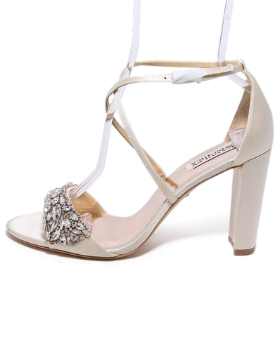 Badgley Mischka Satin Embellished Sandals 1