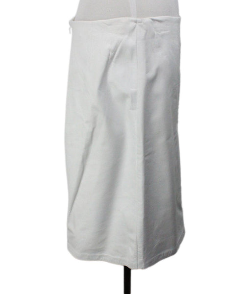 Badgley Mischka White Leather Skirt 2