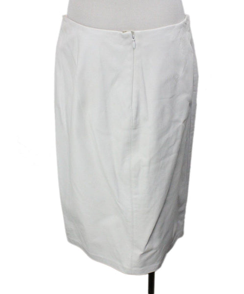 Badgley Mischka White Leather Skirt 3