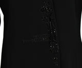 Badgley Mischka Black Rayon Black Rhinestone Trim Evening Jacket 5