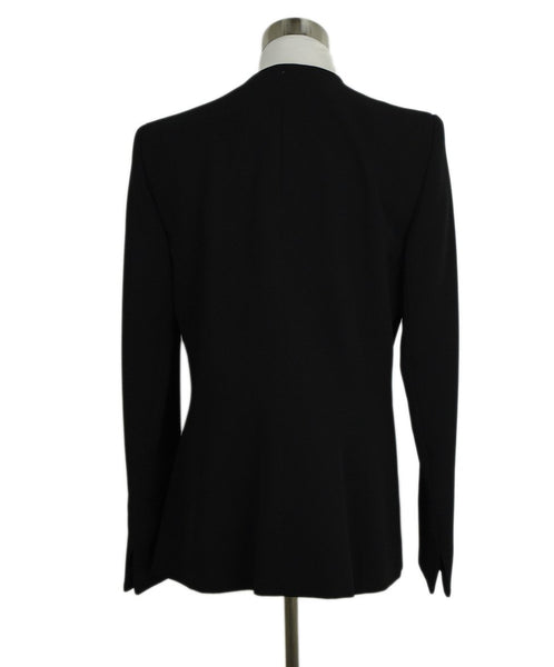 Badgley Mischka Black Rayon Black Rhinestone Trim Evening Jacket 3