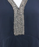 Bailey 44 Navy Beaded Polyester Blouse 5