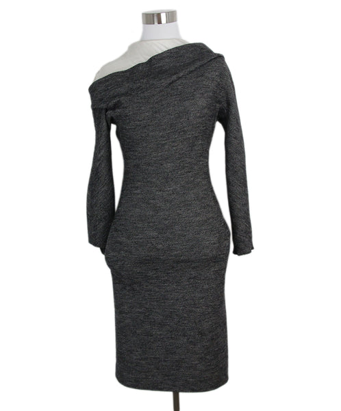 Balenciaga Black Grey Dress 1