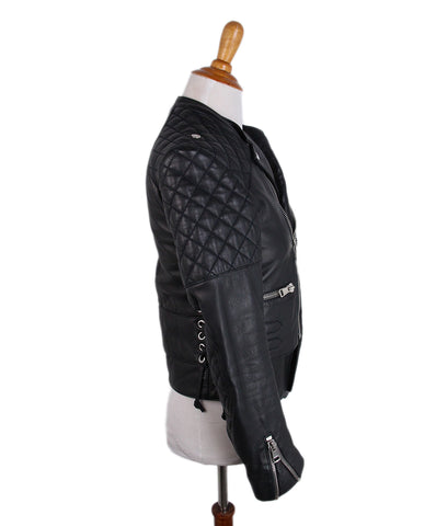 Balenciaga Black Leather Jacket 1