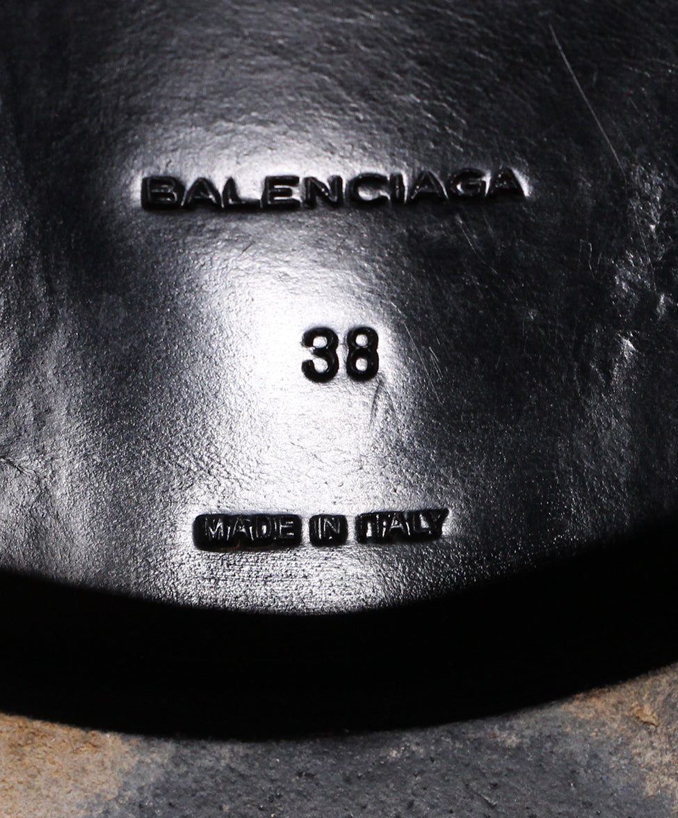 Balenciaga Black Leather Silver Trim Lists 6