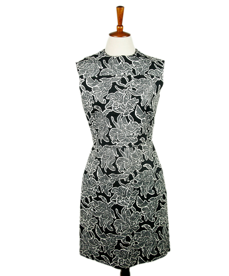 Balenciaga Black White Rayon Dress 1