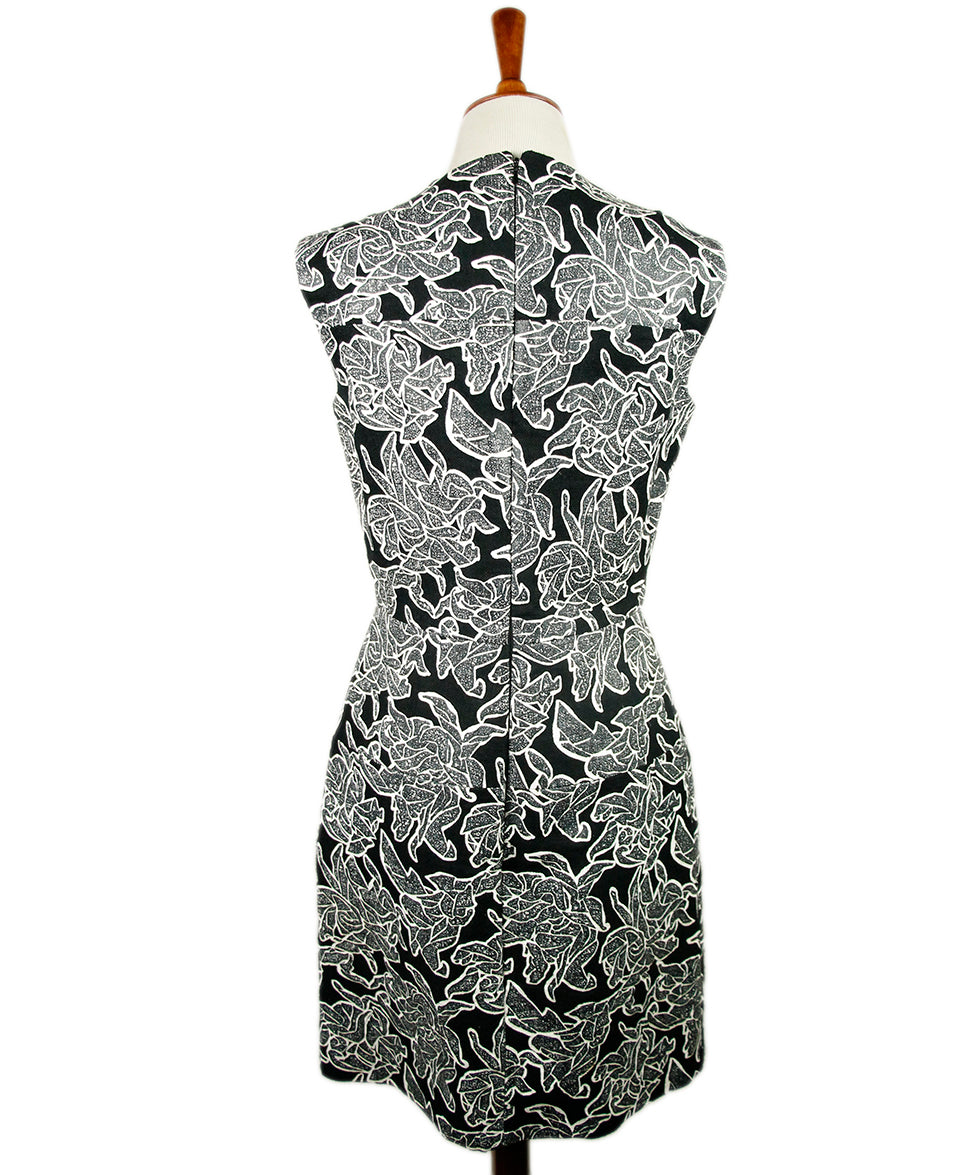 Balenciaga Black White Rayon Dress 3