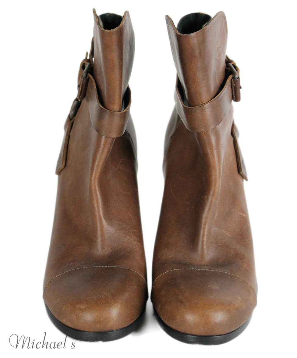 Balenciaga Brown Leather Booties Sz 41