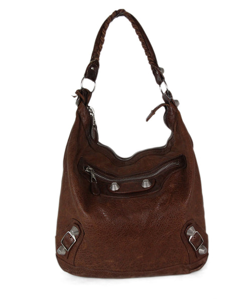 Balenciaga Brown Tobacco Leather Hobo Bag 1