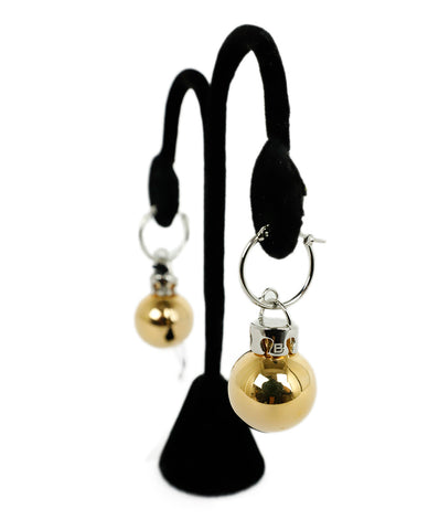 Balenciaga Metallic Gold Silver Ornament Balls Earrings 1