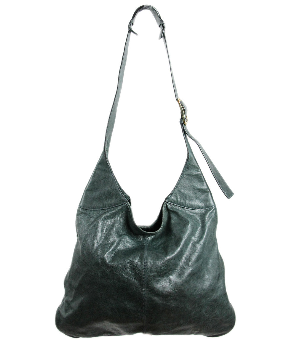 Balenciaga Green Distressed Leather Handbag - Michael's Consignment NYC  - 1