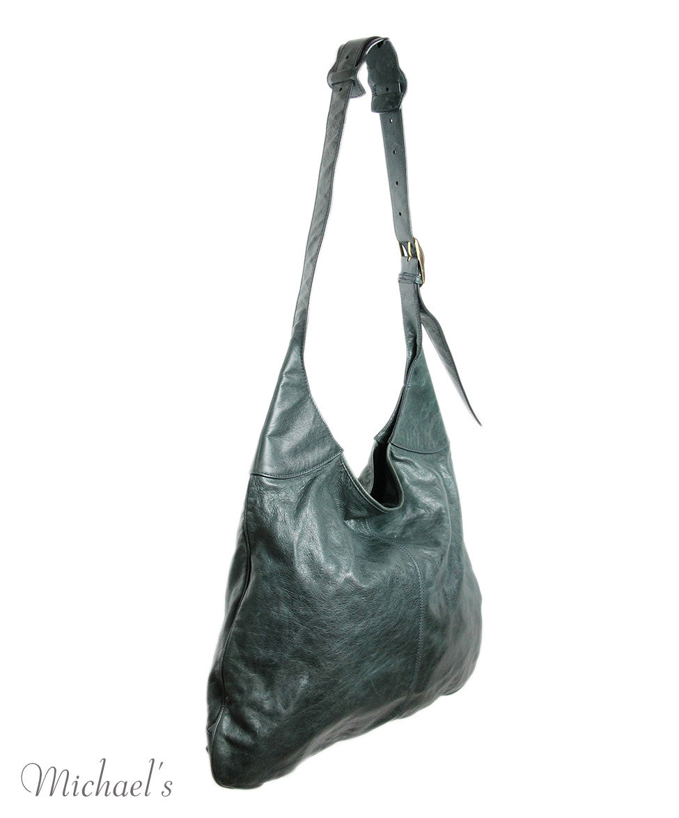 Balenciaga Green Distressed Leather Handbag - Michael's Consignment NYC  - 2