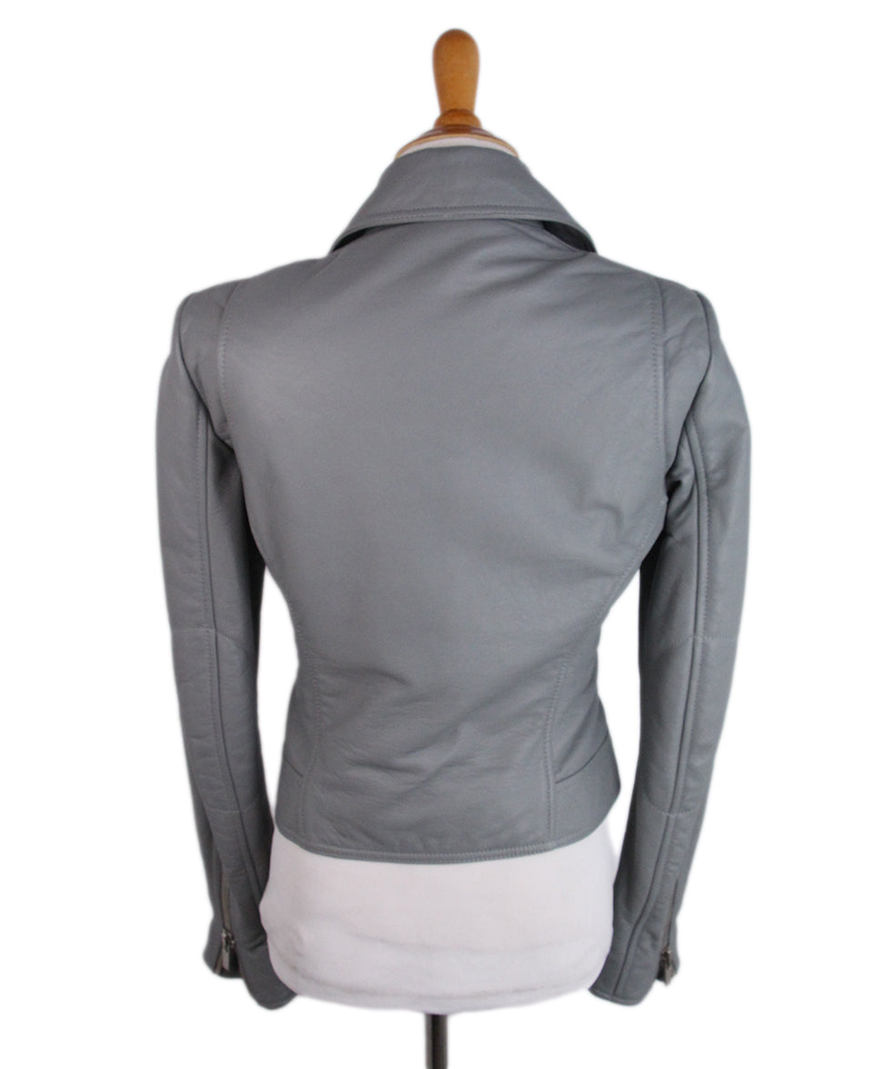 Balenciaga Grey Leather Jacket 3
