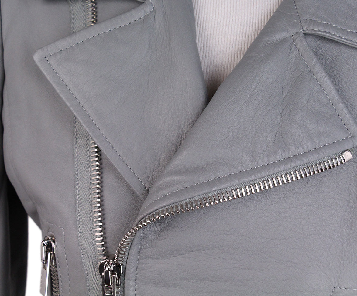 Balenciaga Grey Leather Jacket 6