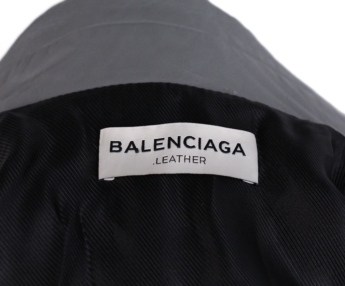Balenciaga Grey Leather Jacket 4