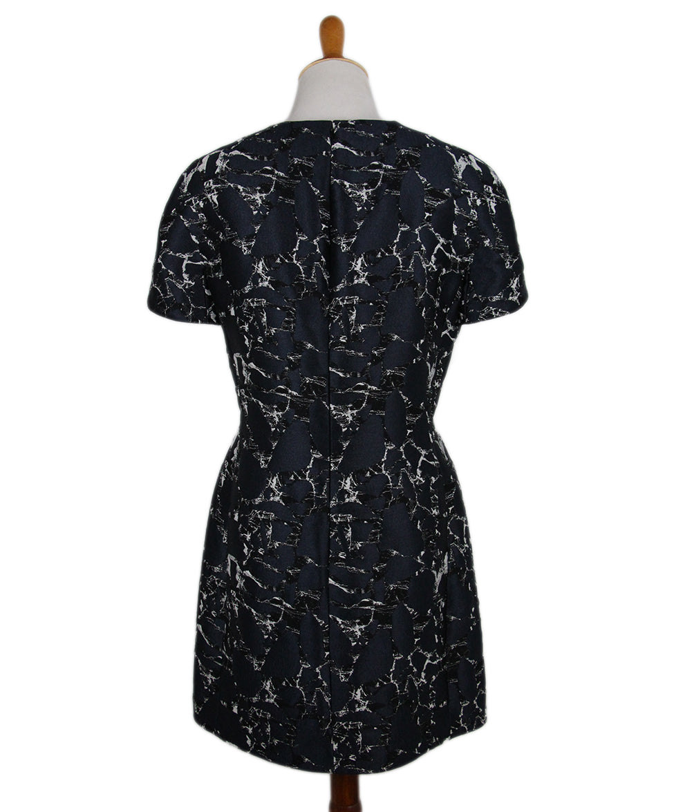 Balenciaga Navy Black White Cotton Dress 3