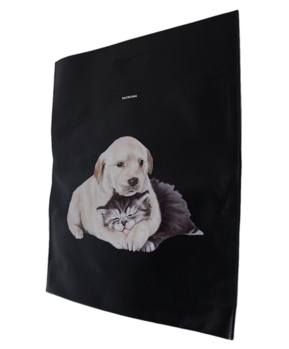 Balenciaga Puppy Kitten Shopper Tote 7