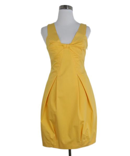 Moschino yellow bow detail dress 1