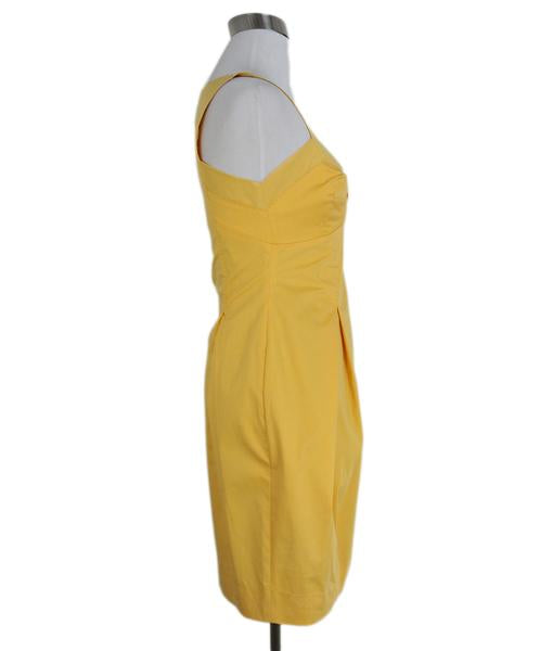 Moschino yellow bow detail dress 2