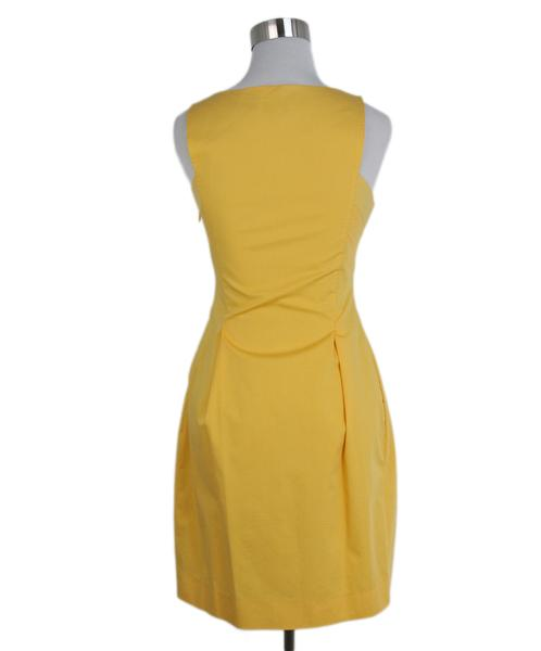 Moschino yellow bow detail dress 3