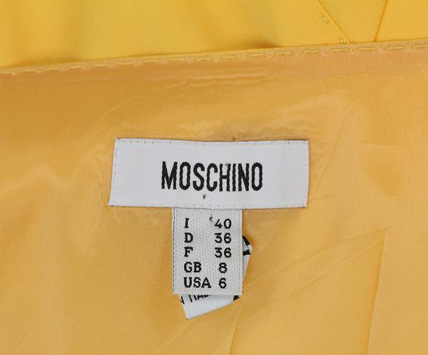 Moschino yellow bow detail dress 4