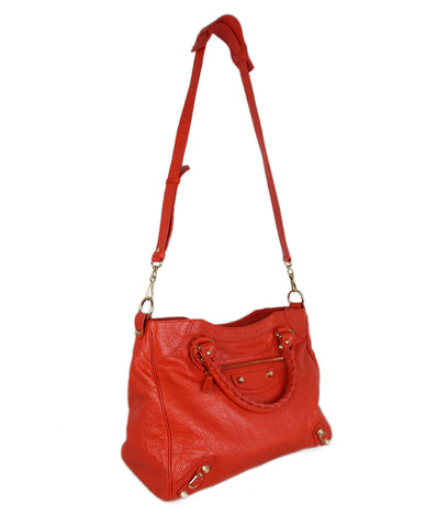 Balenciaga Red Orange Satchel 1