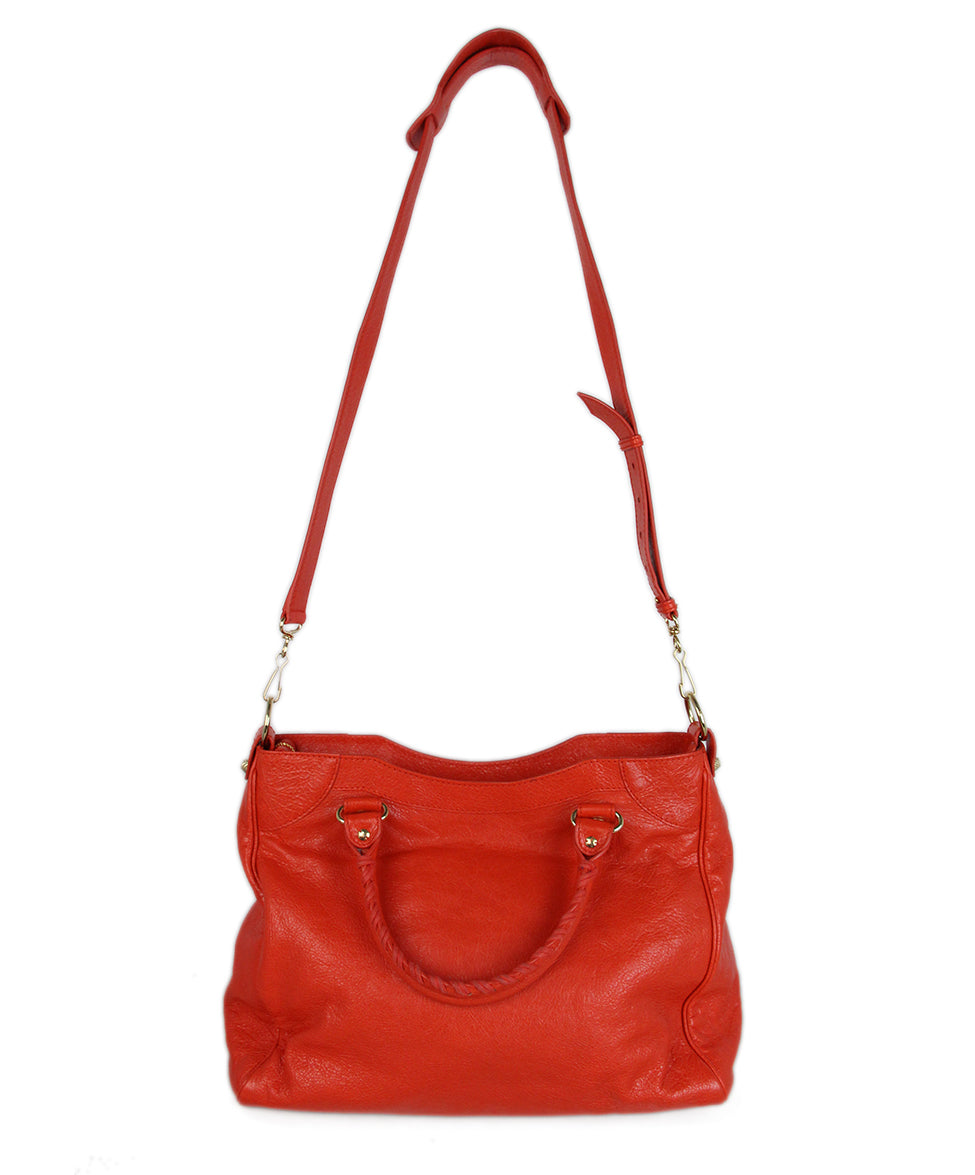 Balenciaga Red Orange Satchel 3