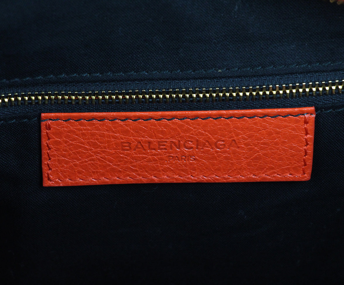Balenciaga Red Orange Satchel 8