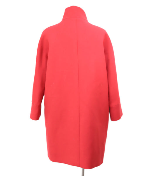 Balenciaga Red Wool Coat with Silver Buttons 3
