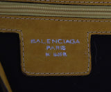 Balenciaga Yellow and Pink Floral Print Brown Leather Shoulder Bag 7