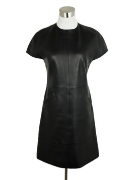 Balenciaga Black Leather Dress 1