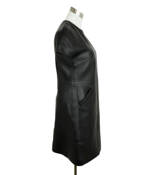 Balenciaga Black Leather Dress 2