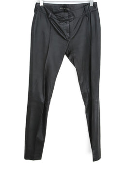 Balenciaga Black Leather Pants 1