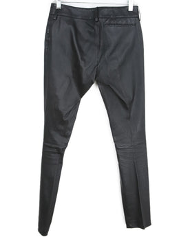 Balenciaga Black Leather Pants 2