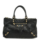 Balenciaga Black Leather Tote Handbag 1