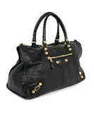 Balenciaga Black Leather Tote Handbag 2