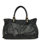 Balenciaga Black Leather Tote Handbag 3
