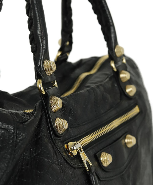 Balenciaga Black Leather Tote Handbag 9