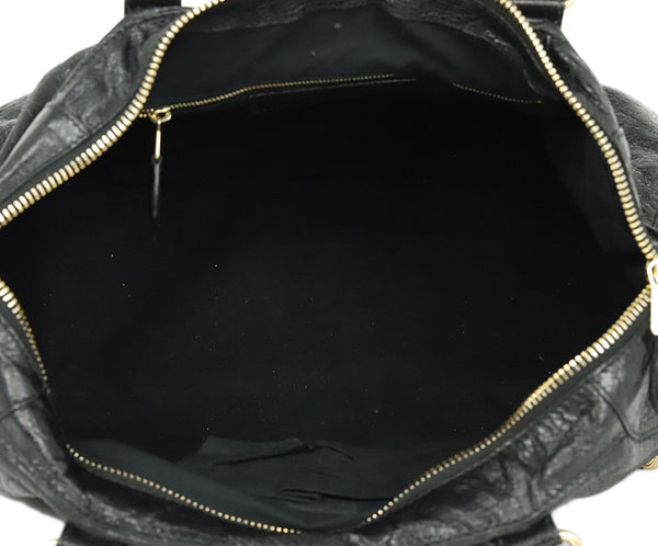 Balenciaga Black Leather Tote Handbag 6